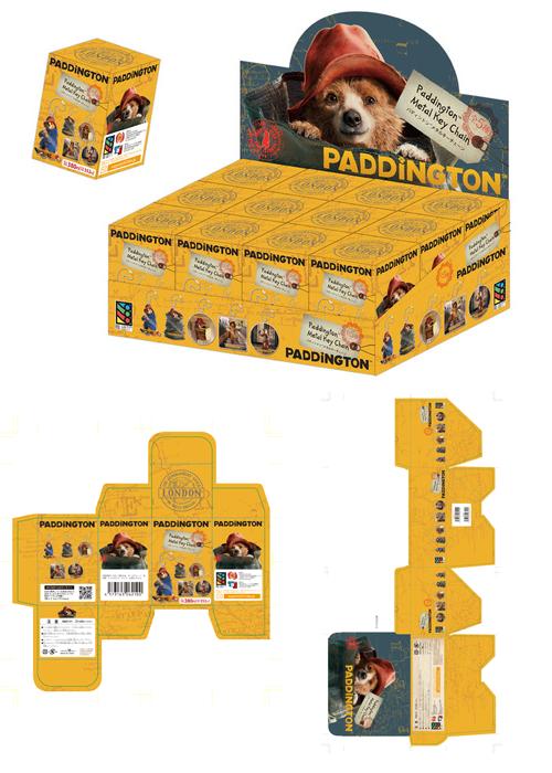 パディントンのキーチェーンのボックスデザイン